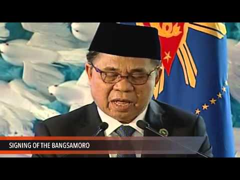 MILF chairman Ebrahim's speech at the Signing of the Bangsamoro