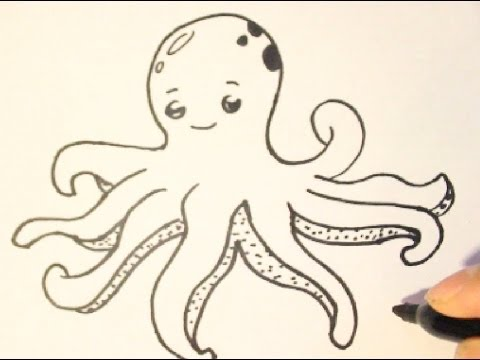 how to draw an octopushow to draw cartoon charactersstep by step