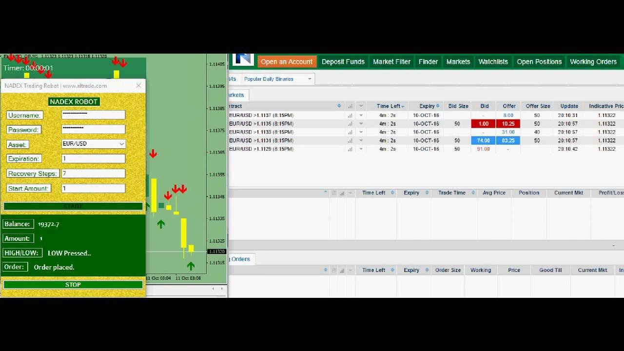 Binary options robot for nadex