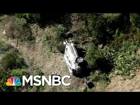 See Aerials Of Tiger Woods Car Accident Wreckage Near Los Angeles   Katy Tur   MSNBC