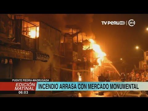 Puente Piedra: incendio arrasa cerca de 700 puestos del 'Mercado Monumental'