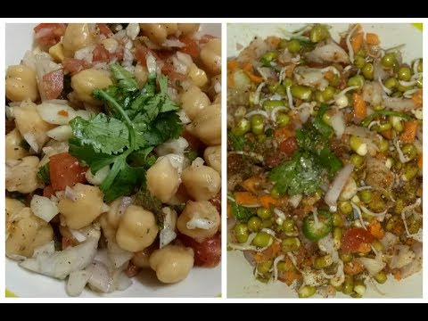 2 Healthy & Tasty Salad Recipes for Weight Loss || Chickpea Salad || Moong Sprouts Salad