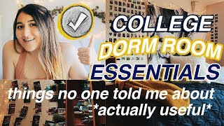 COLLEGE DORM ROOM ESSENTIALS 2018 + WHAT YOU NEED TO BRING TO COLLEGE-items to invest in for college