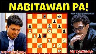 Download Nabitawan Pa! Sayang! || GM Harikrishna vs  GM Caruana Tata Steel Masters 2021 Round 4