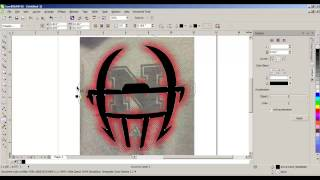 Coreldraw - Create A Halftone (cross) Outter Glow