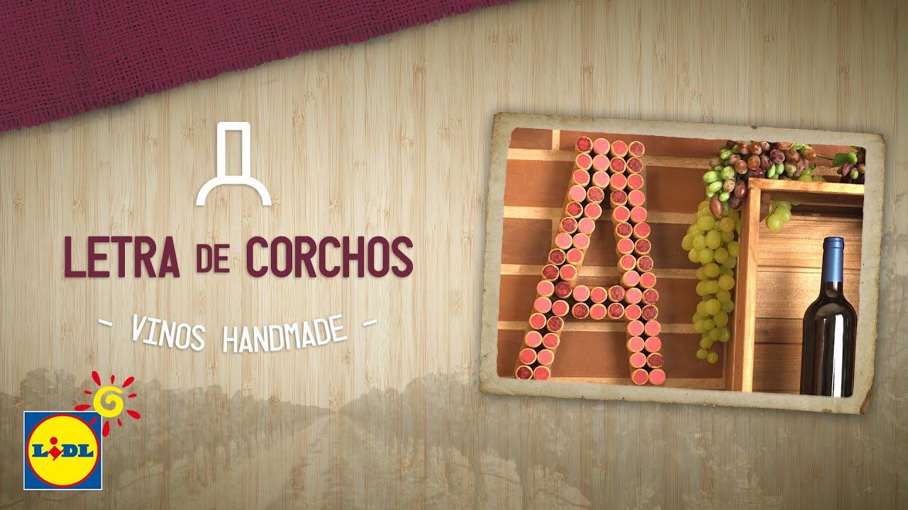 Letra con corchos handmade vinos youtube for Cuadros con corchos