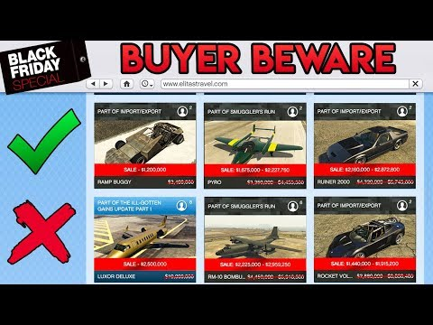 GTA Online *BUYER BEWARE* MAJOR Black Friday Sales! What to Buy + Save Millions