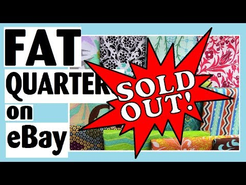 [SOLD OUT] 16 Cotton Fat Quarters - Quilt Fabric Stash Builder - On eBay