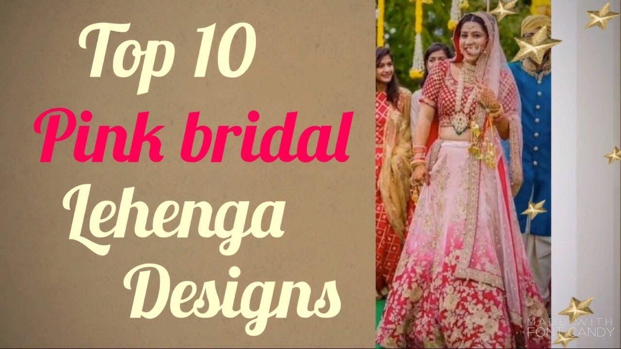 876b3c58ade Top 10 latest pink bridal lehenga design punjabi wedding 2017 2 ...