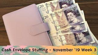 Cash Envelope Stuffing | November 2019 Week 3 | Cash Envelope System UK