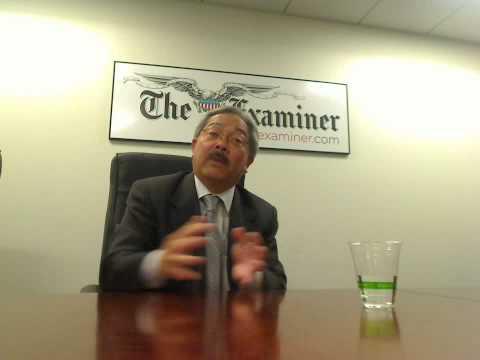 San Francisco Mayor Ed Lee speaks to The Examiner Part 2