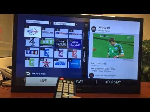 Locatel IPTV Eclipse Connected TV - ARABIC DEMO Part 1