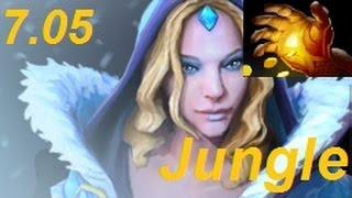 How to Jungle Crystal Maiden to a Hand of Midas in Patch 7.05 : DotA 2 Guides