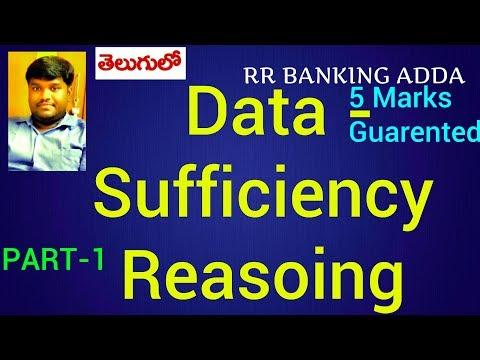 Data Sufficiency Reasoning Tricks for Bank PO, SBI PO, CAT || Part -1|| In Telugu || RR BANKING ADDA