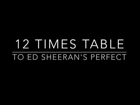 12 Times Table set to Ed Sheeran's Perfect