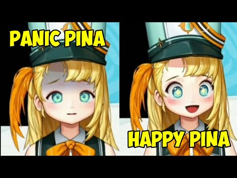 Pina Pengin expression changing when playing Resident Evil.....
