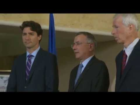 Prime Minister Justin Trudeau at the French Embassy