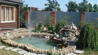 Строим фонтан на даче своими руками: инструкция с фото и видео