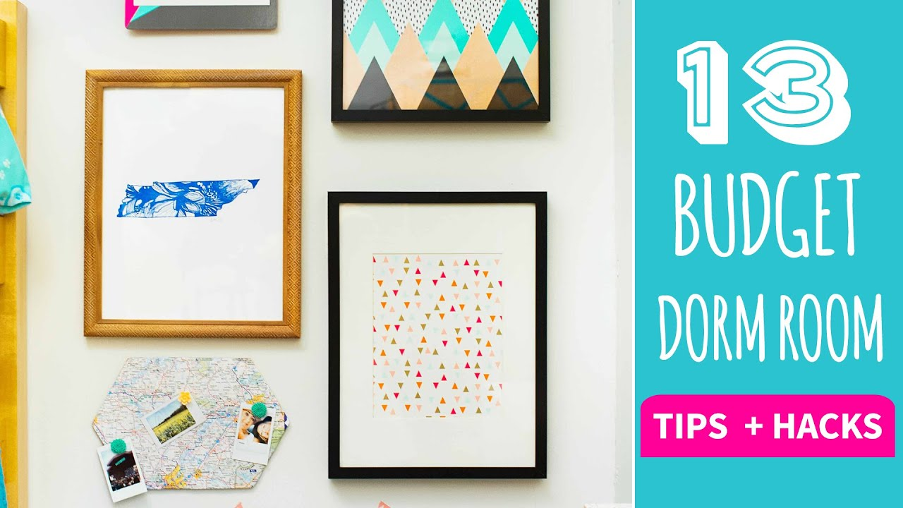 13 tips and hacks for dorm decor on a budget hgtv handmade youtube