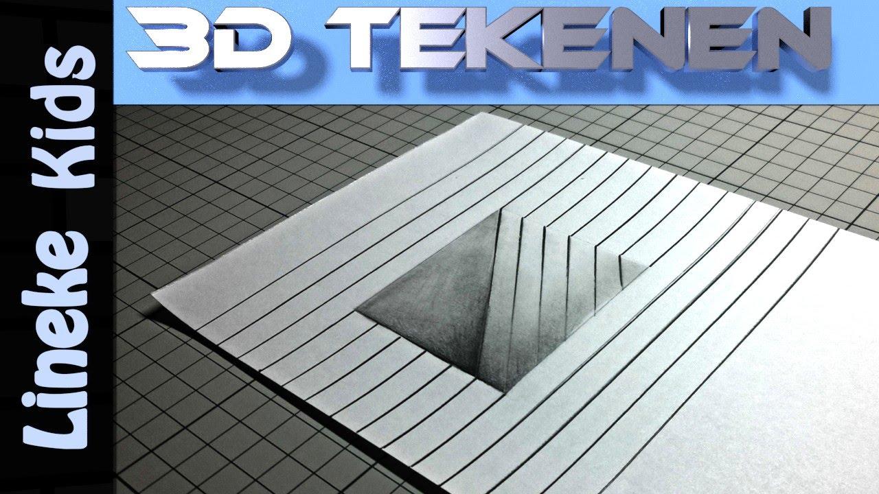 3d tekenen in stappen luik in papier voor beginners en for Tekenen in 3d