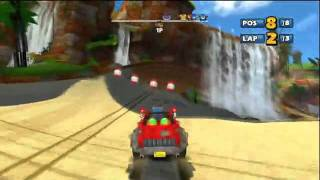 Sonic and SEGA All-Stars Racing Banjo Kazooie gameplay
