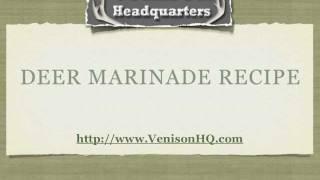 Deer Marinade Recipe From Venisonhq