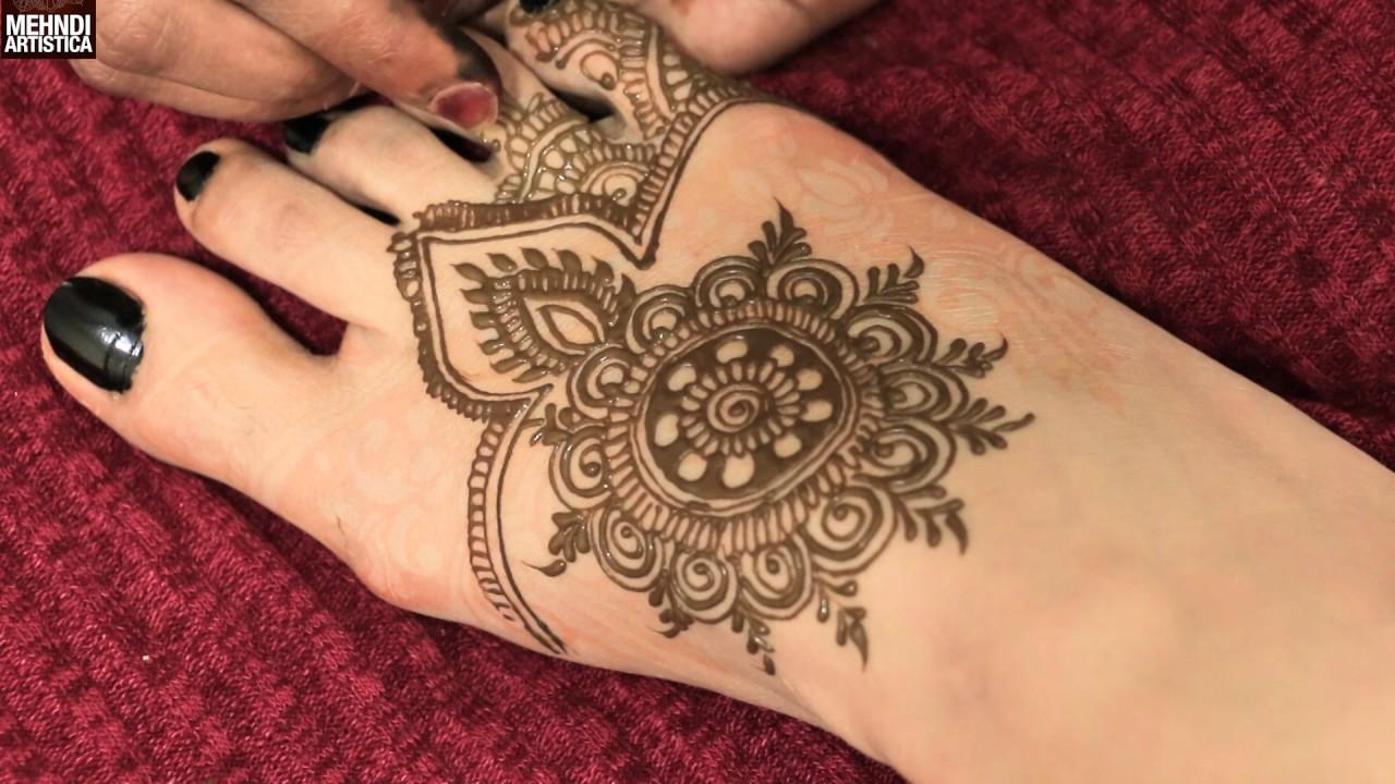 Easy Simple Circular Mandala Style Mehndi Pattern Shagun Mehendi