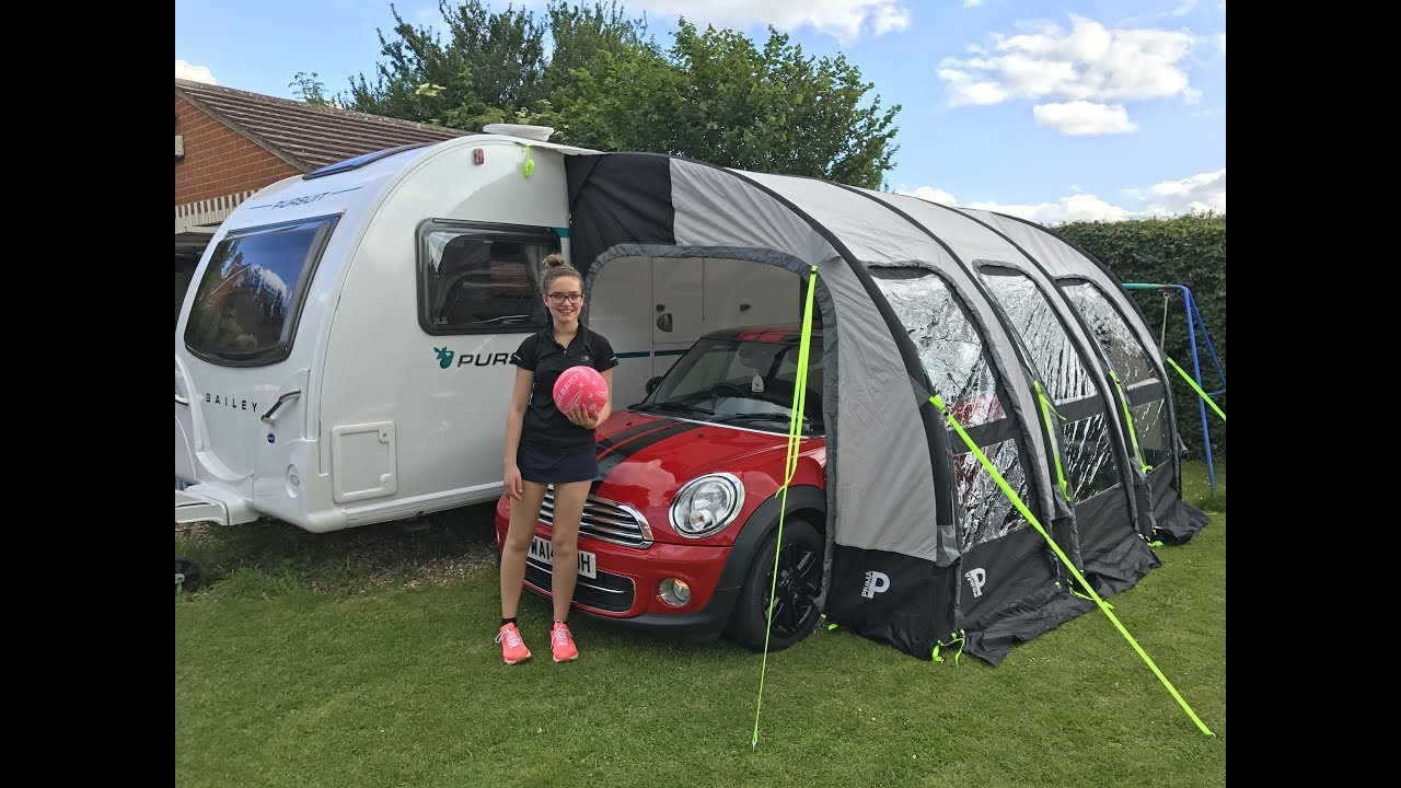 Set Up Review Of The Prima 390 Deluxe Pump Up Air Awning Youtube