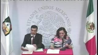 Rueda de Prensa - Nuevo Sistema de Justicia Penal