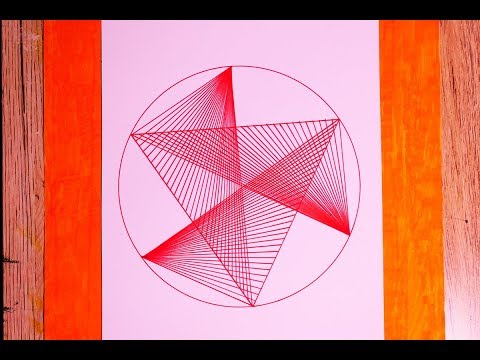 Learn To Draw Geometric Equilateral Triangle Crossed In Straight Lines Pattern