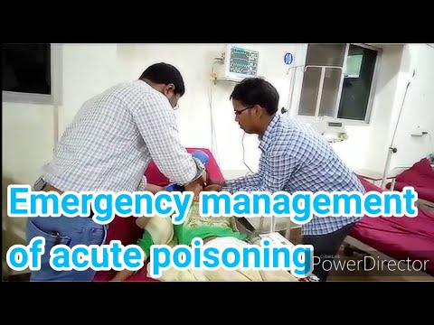 Emergency management of acute poisoning