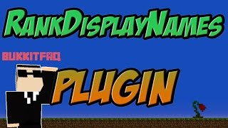 RankDisplayNames Bukkit Plugin Minecraft 1.7.10| 1.8 Spigot | German| | Tutorial |