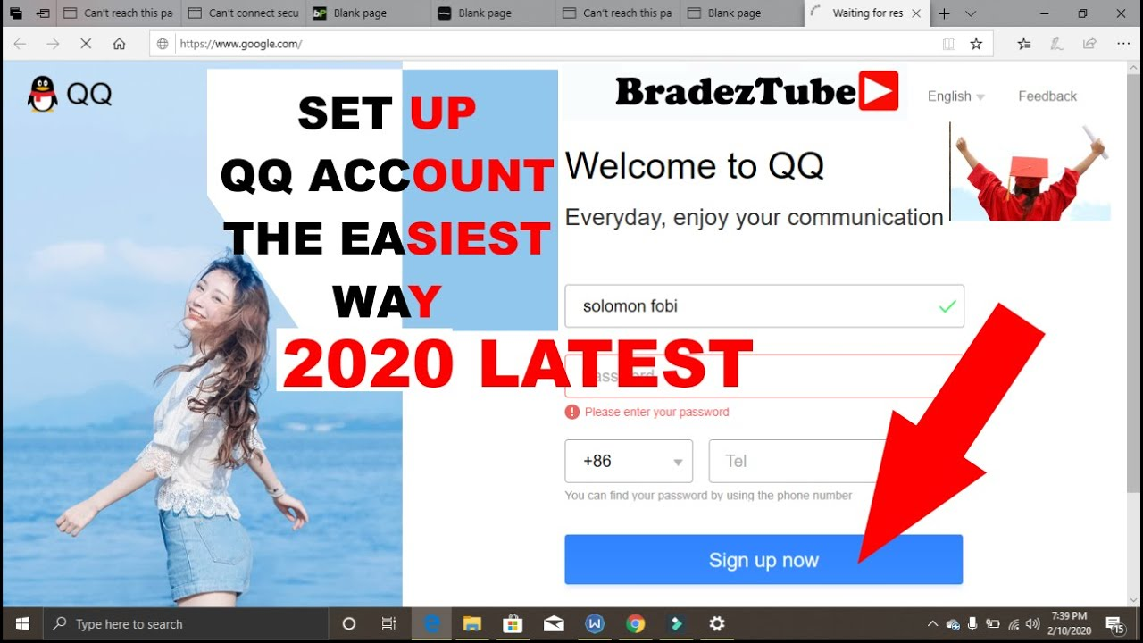 How To Create New Qq Account 2020 Qq Sign Up Create Qq Account 2020 Qq App Sign Up Faqs Answered Youtube