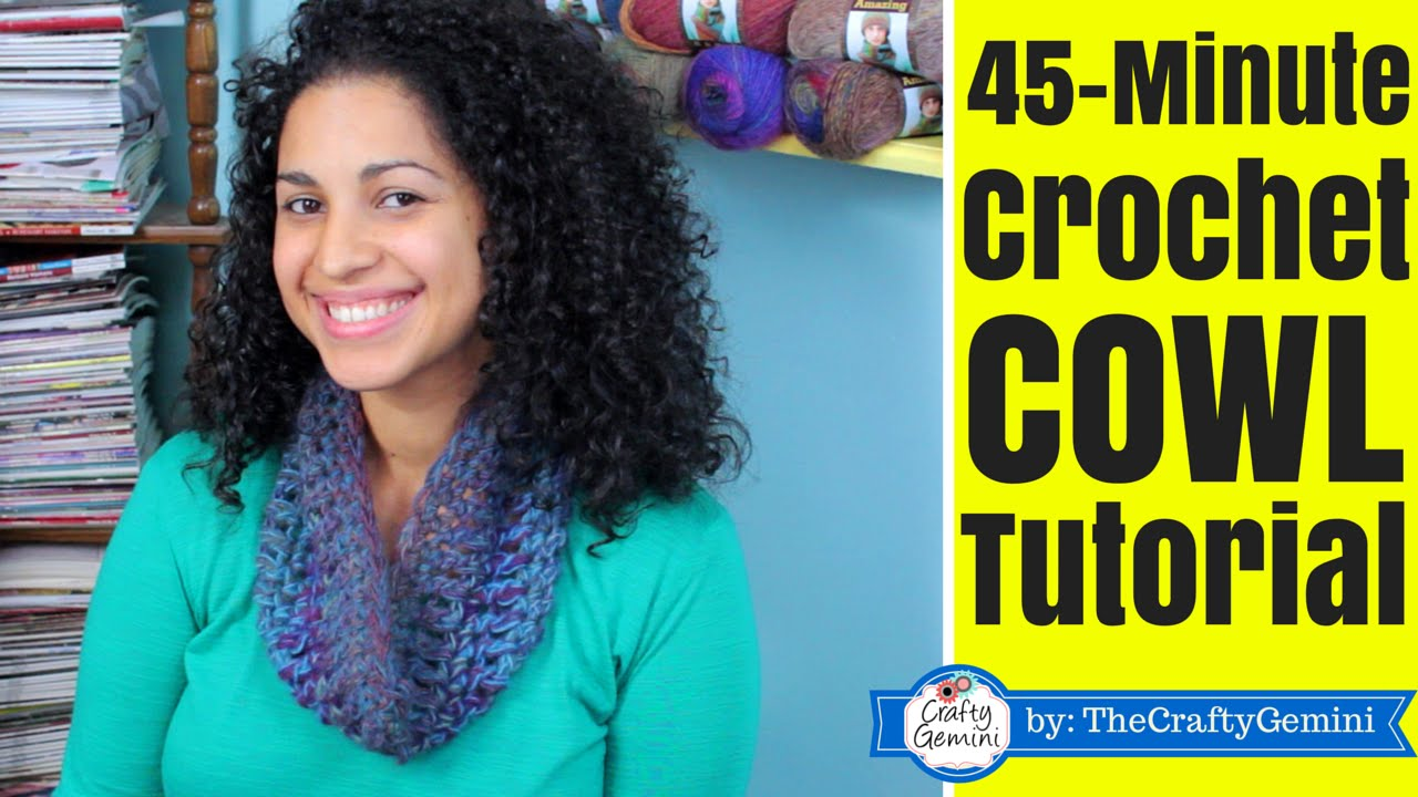 45 Minute Crochet Cowl Tutorial Lion Brand Yarn Youtube