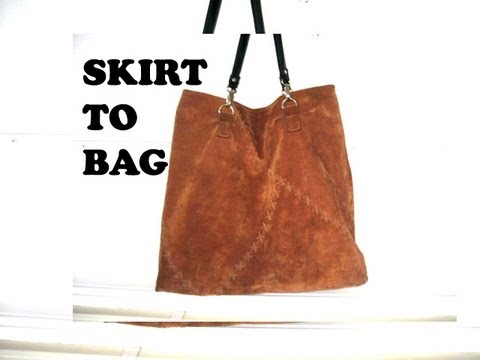 How To Make A Leather Tote Bag From Skirt Diy Vol 6