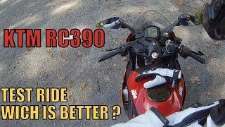 Essai de la KTM RC390 / Comparaison de la Yamaha R3 (FR)