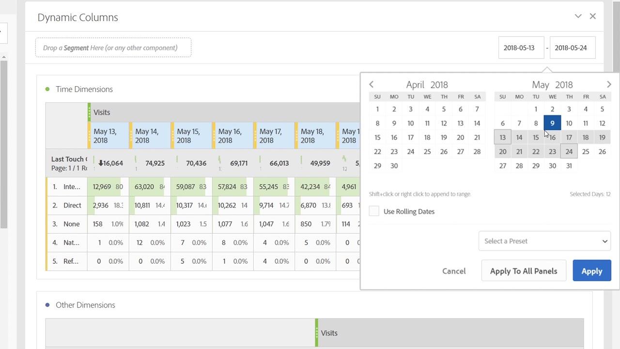Dynamic Columns In Analysis Workspace Freeform Tables   Adobe Analytics