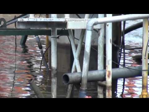 Salvage of concrete Production Barge