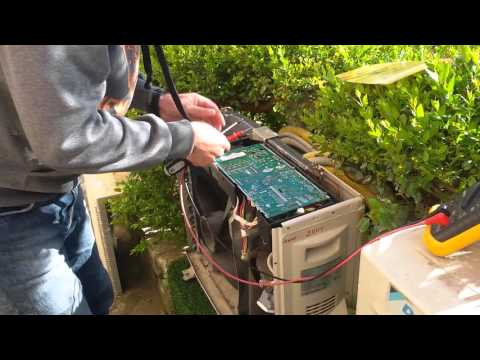 Removing control board Daikin, repair U4 error