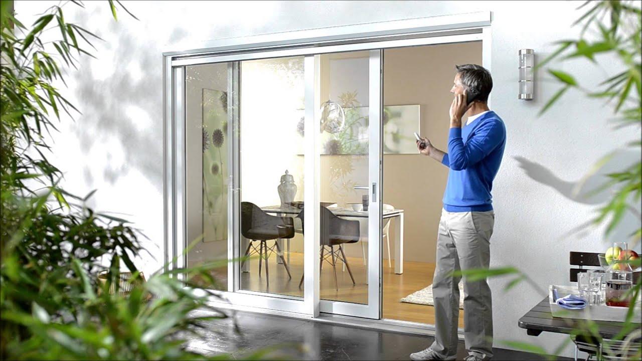 insektenschutz rollo elektrisch youtube. Black Bedroom Furniture Sets. Home Design Ideas