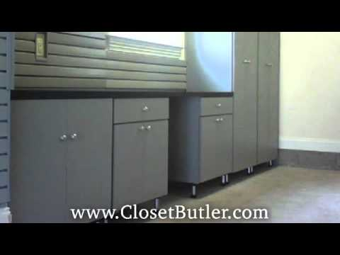 Custom Built Garage Cabinets From Closet Butler