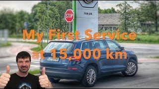 My Skoda Kodiaq - My First Service at 15,000 km (9,000 mi)