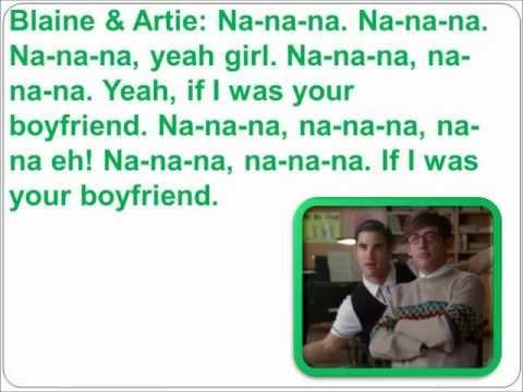 Boys & Boyfriend Glee Lyrics