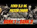 FORD 3.0 PISTON ORDER - FORD ESCAPE