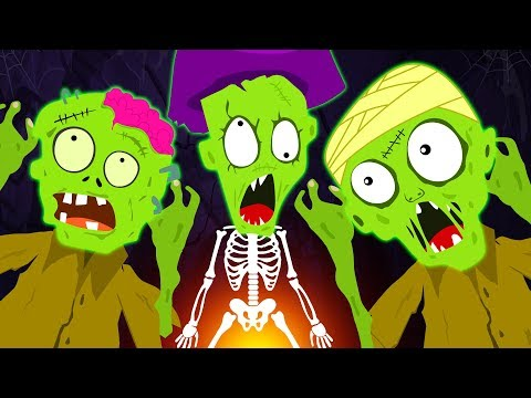 Five Funny Zombies Jumping On The Grave | Zombie Family