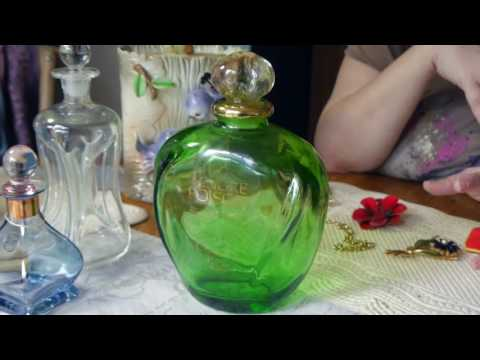 Garage & Estate Sale + Flea Market Finds - Lefton, Brutalist Jewelry and a Giant Perfume Bottle!