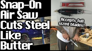 Snap-On Air Saw Cuts Steel Like Butter! (Short Demo)