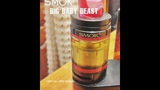 Smok big baby beast RBA wicking tutorial & review