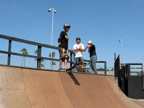 YMCA skate park wooden bowl