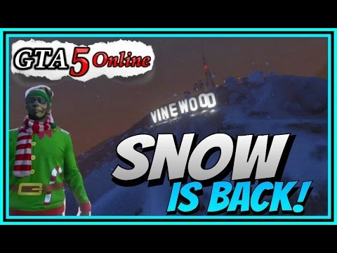GTA 5 DLC UPDATE - SNOW IS BACK! + MORE Holiday GIFTS FROM ROCKSTAR!